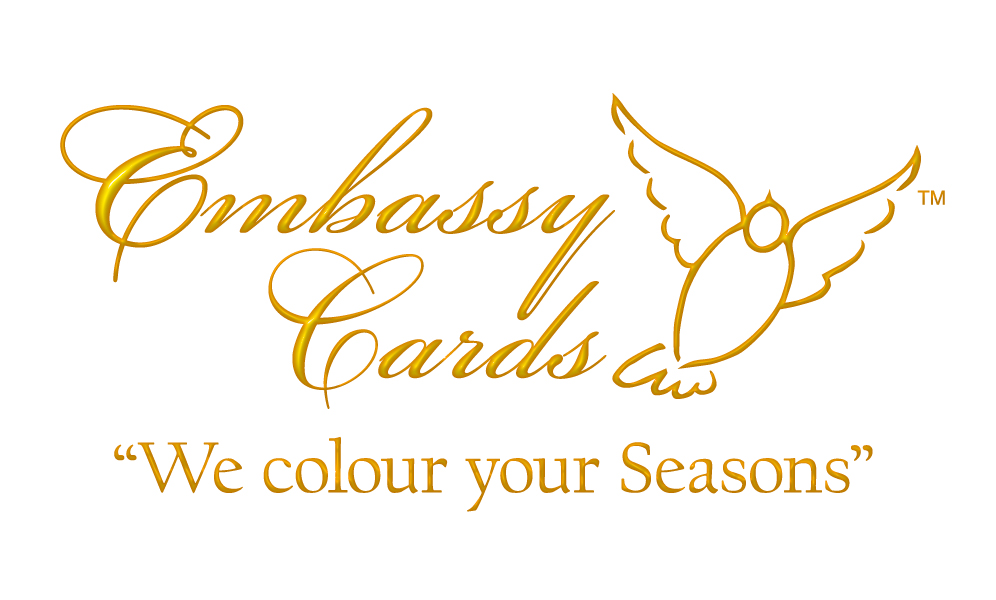 EMBASSY CARDS LOGO gold